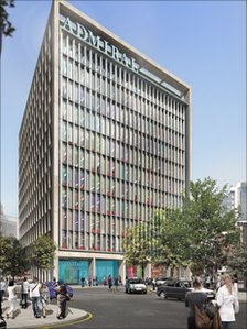 An architect's impression of the new Admiral building