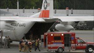 Survivor arrives at Anchorage 10 August 2010