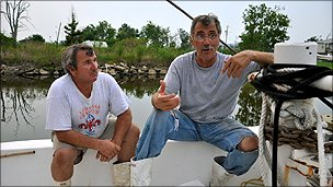 Shrimpers Charles Robin III and George Barisich