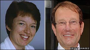 Dawn Airey and Richard Desmond