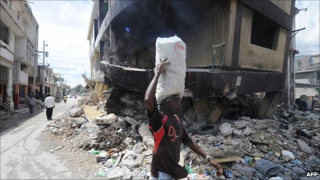 Haiti following the devastating earthquake in January 2010