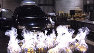 Cigarettes and tobacco seized at Plymouth ferry port