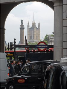 A view of London from Piccadilly Circus
