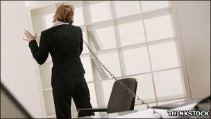 Businesswoman talking on telephone in office (Photo: Thinkstock)