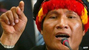 Indigenous leader Alberto Pizango