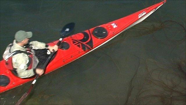 A kayaker in Oban