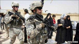 US troops in Kerbala, Iraq, 11 Aug 2010