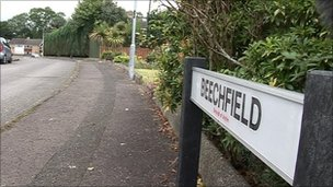 The device was discovered in the Beechfield area of Antrim