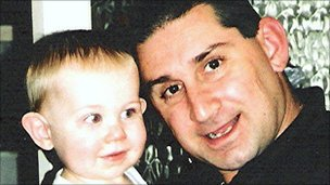 Lee Williams with his son
