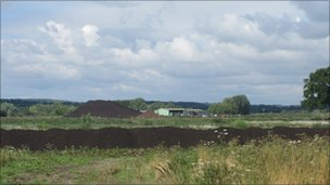 Peat on the Somerset Levels