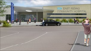 Artists' impression of the hospital