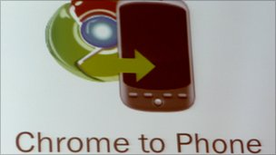 chrome to phone sign