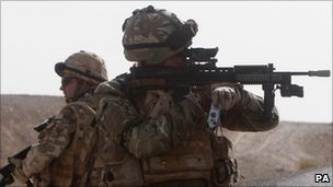 Two UK soldiers (file image)