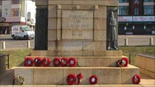 Blackpool war memorial