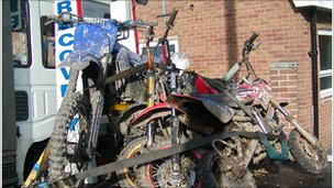 Bikes seized by police