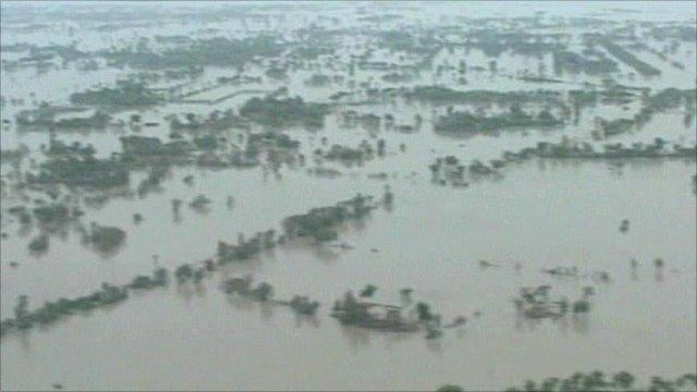 Flooded area in Pakistan