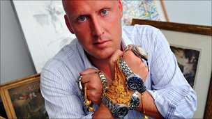 Paul Aitken with some pawned jewellery