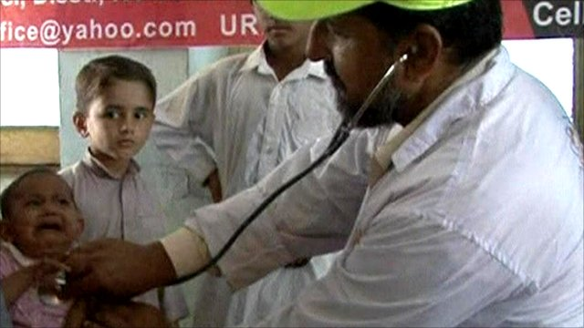 Doctors treat flood victims