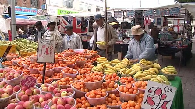 Market food stall