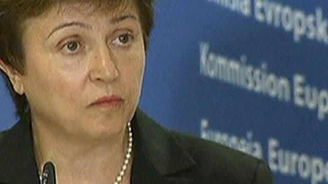 EU international aid commissioner Kristalina Georgieva