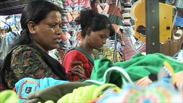 Shoppers in Mumbai