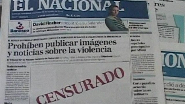 El Nacional newspaper cover