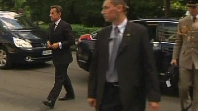 President Sarkozy returning from holidays