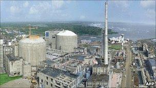 Tarapur Atomic Power Station in India's Maharashtra state