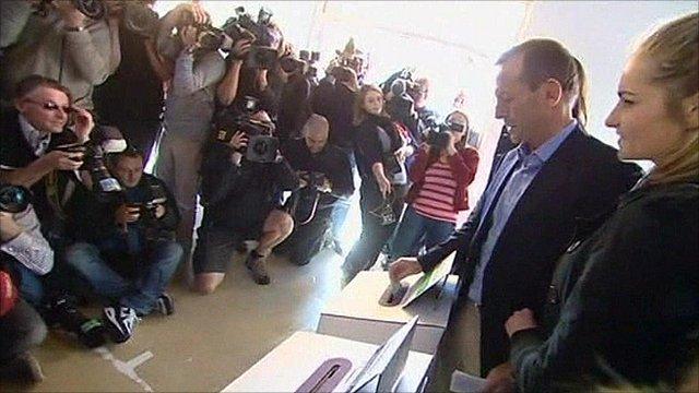 Tony Abbott casts his vote