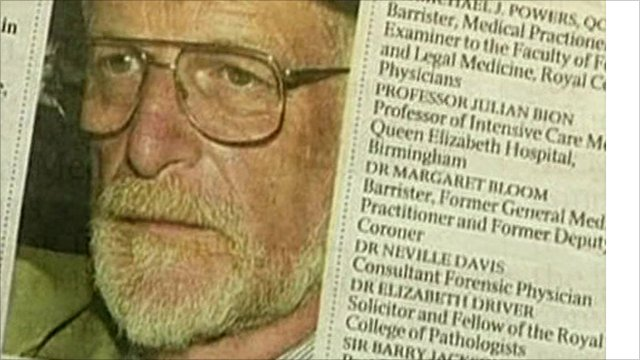 A photo of Dr David Kelly in a newspaper