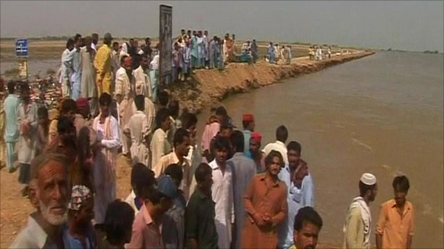 Mud barrier is Shahdadkot's last line of defence