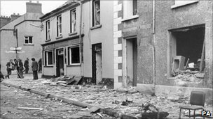 Nine people were killed as three bombs exploded in Claudy