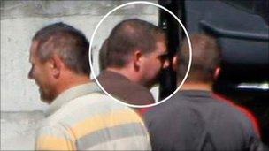 James Connor being arrested