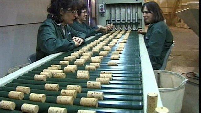 A cork factory