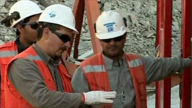 Engineers at drill site