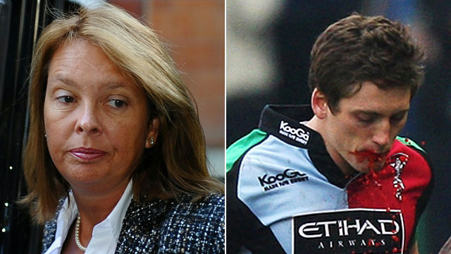 Dr Wendy Chapman and Harlequins winger Tom Williams