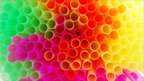 A cluster of drinking straws