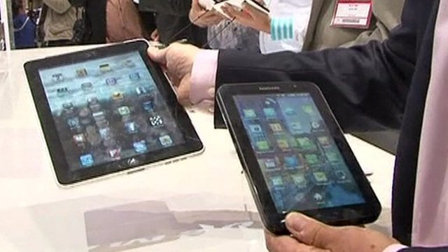 Apple's iPad and Samsung's Galaxy Tab