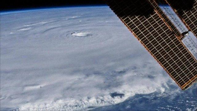 Satellite image of Hurricane Earl