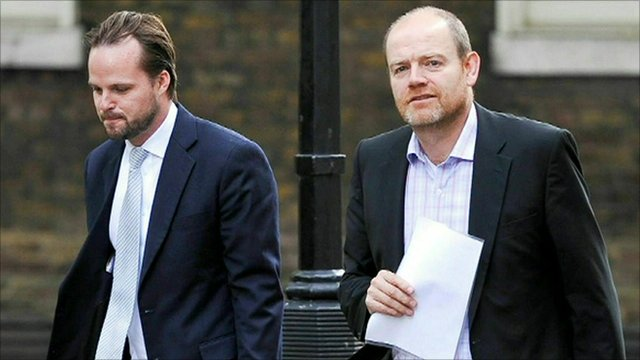 Mark Thompson arriving at Downing Street