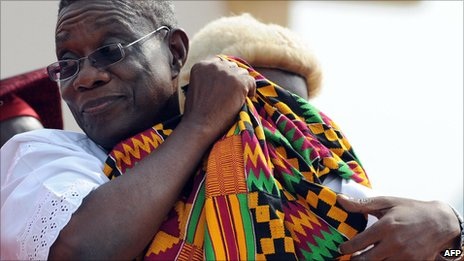 John Atta Mills on the day he was inaugurated as Ghana's president in January 2009