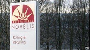 Novelis sign