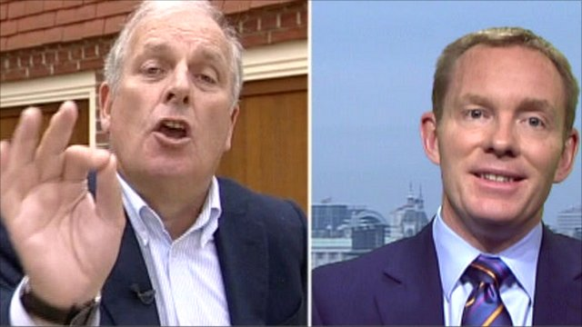 Kelvin MacKenzie and Chris Bryant