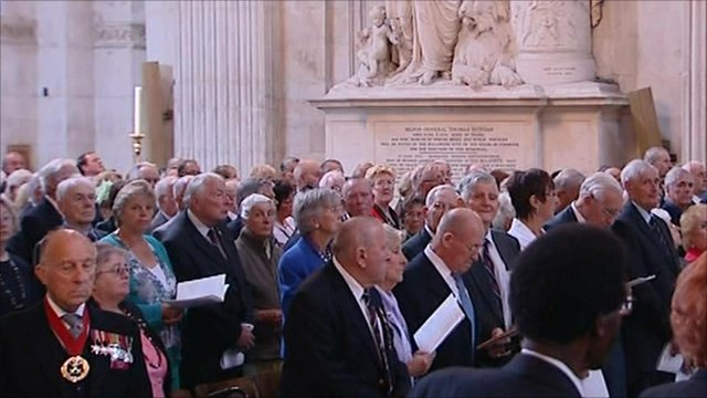 People in St Paul's Cathedral for the Blitz commemoration service