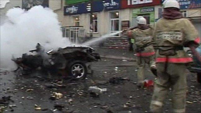 Fire crews put out car fire
