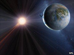 Artist's impression of extrasolar planet, Gliese 581c