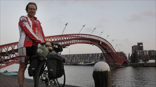 Ken Thompson with bike