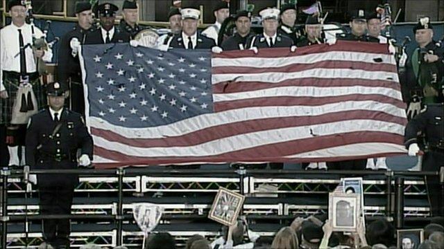 Memorial service at Ground Zero