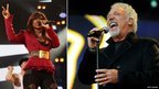Alexandra Burke (PA) and Sir Tom Jones (Getty)
