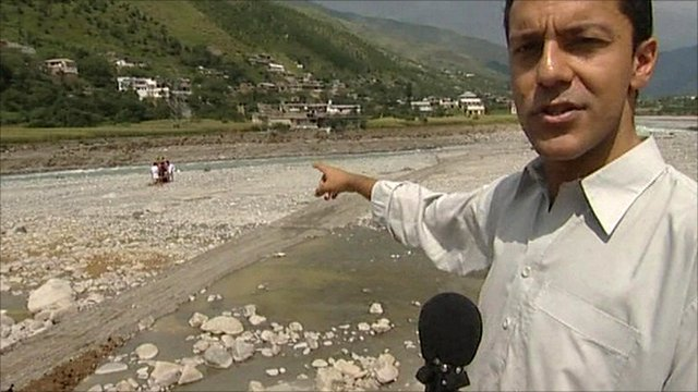 The BBC's Aleem Maqbool reports from the banks of the Indus river